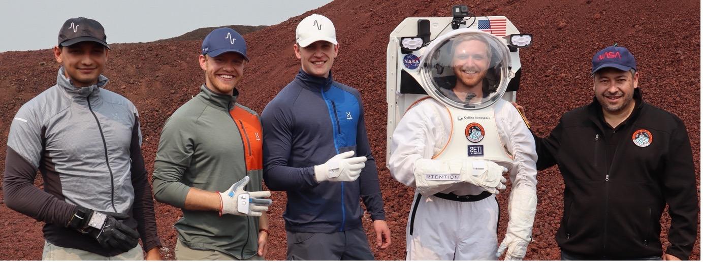 Ntention Astronaut Smart Glove (ASG) field test team
